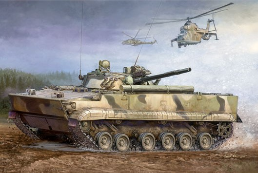 BMP-3 Infantry Fighting Vehicle Box Art by Trumpeter Models