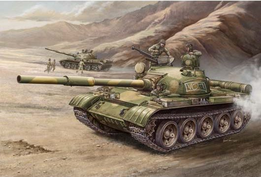 Russian T-62 Main Battle Tank Box Art by Trumpeter Models