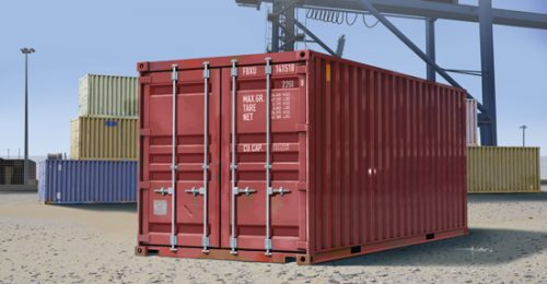 20ft Container Scale Model Kit Box Art From Trumpeter