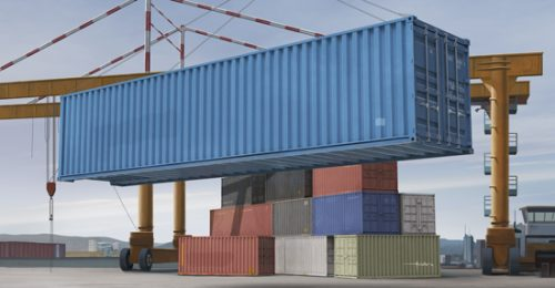 40ft Container Scale Model Kit Box Art From Trumpeter