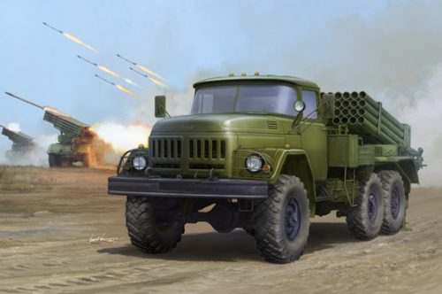 Russian 9P138 Grad-1 on Zil-131, kit No: 10132, Box Art By Trumpeter