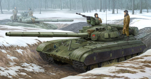 Soviet T-64B Main Battle Tank Box Art by Trumpeter Models