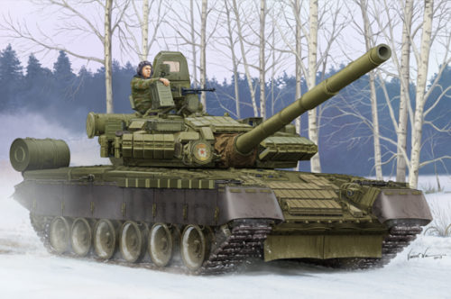 Russian T-80BV Main Battle Tank Box Art by Trumpeter Models