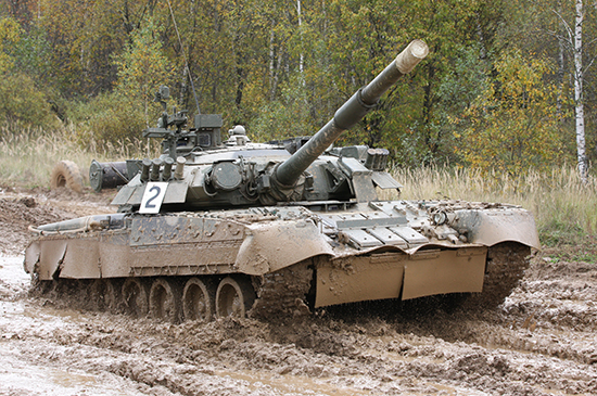 Russian T-80U Main Battle Tank Scale Model Kit Box Art By Trumpeter