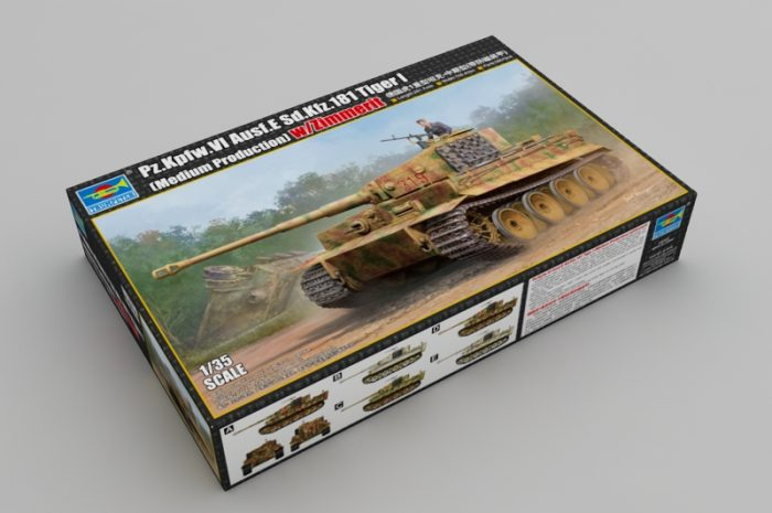 Tiger I Medium Production Scale Model Kit Box