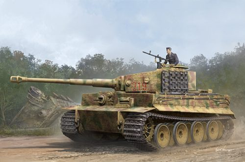 Tiger I Medium Production Scale Model Kit Box Art By Trumpeter