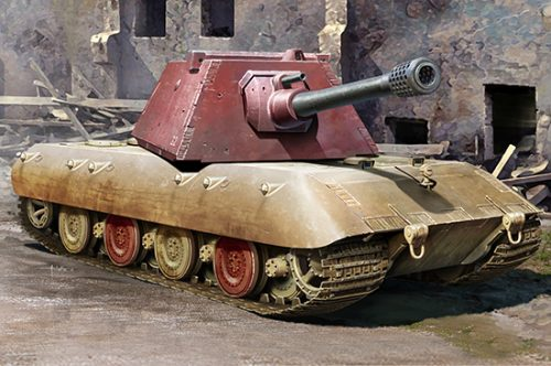 E-100 German Heavy Tank by Trumpeter 1/35th Scale Model Kit Box Artr