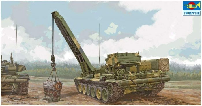 Russian BREM-1 Armored Recovery Vehicle Box Art