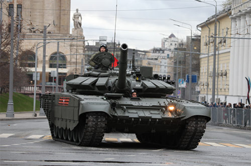Russian T-72B3 MBT Mod.2016 1/35 scale model kit box art by Trumpeter