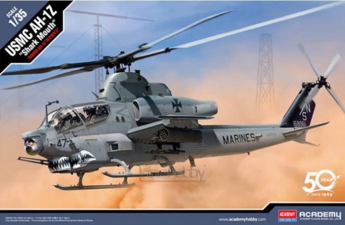 "AH-1Z ""Shark Mouth"" Scale Model Kit Box Art By Academy"