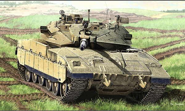 Merkava 2D MBT scale model kit by Academy box art.