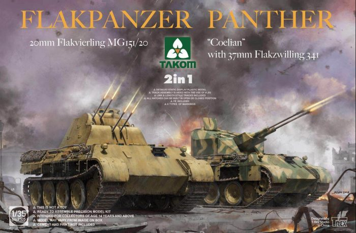 Flakpanzer Panther 2in1 Box Art By Takom