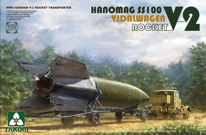 Hanomag SS100 w/Vidalwagen and V-2 Rocket Box Art By Takom