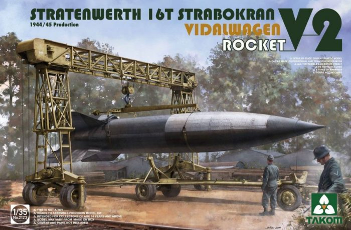 16T Strabokran w/Vidalwagen And V-2 Rocket Box Art By Takom