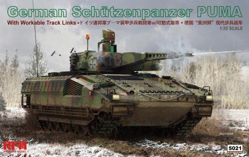 German Schützenpanzer Puma 1/35 Scale Model Kit Box Art by Rye Field Model