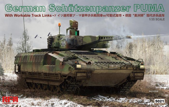 German Schützenpanzer Puma 1/35 Scale Model Kit Box Art by Rye Field Model