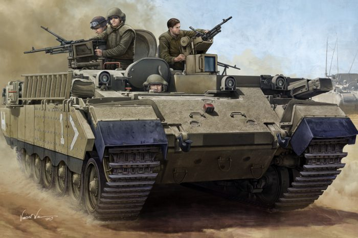 IDF Puma APC 1/35 Scale Model Kit Box Art From Hobby Boss