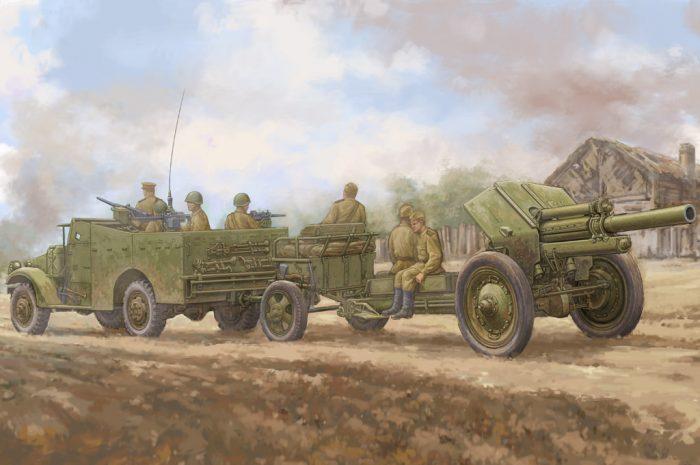 M3A1 Scout Car w/ M-30 122mm Howitzer Box Art