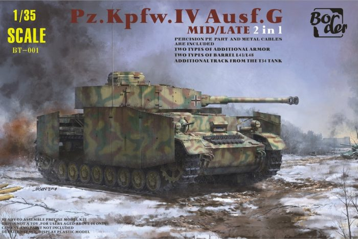 Panzer IV Ausf. G Mid/Late Box Art By Border Model
