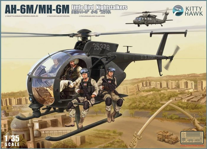 AH-6M/MH-6M Box Art By Kitty Hawk Scale Model Kit