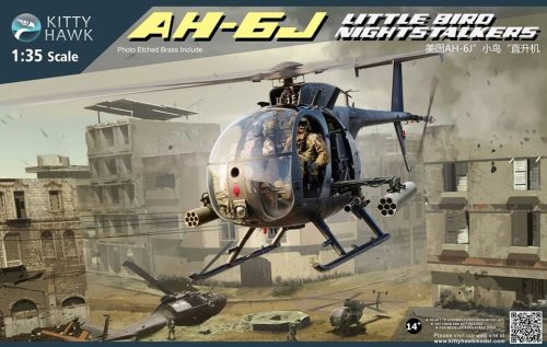 AH-6J Little Bird Night Stalkers Box Art By Kitty Hawk Scale Model Kit