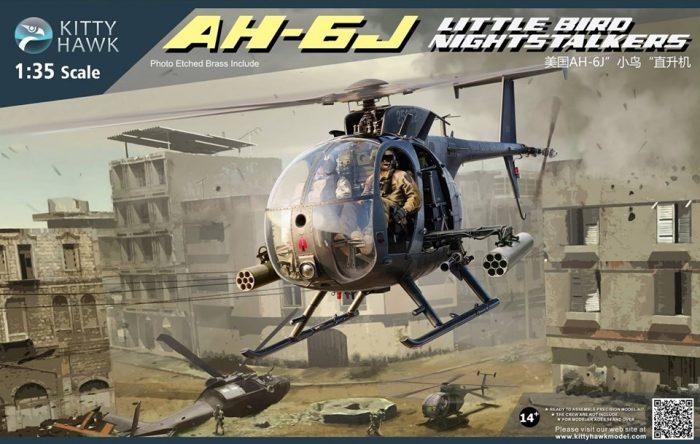 AH-6J Little Bird Night Stalkers Box Art By Kitty Hawk Scale Model Kit