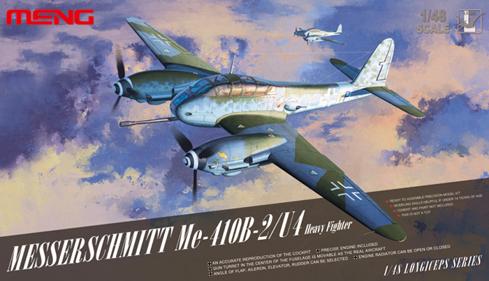 Messerschmitt Me410 B-2/U4 Heavy Fighter Box Art By Meng Model