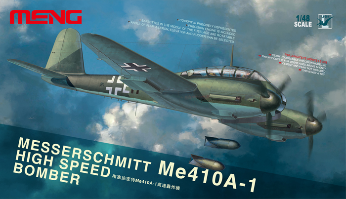 MESSERSCHMITT Me410A-1 HIGH SPEED BOMBER Box Art By Meng Model