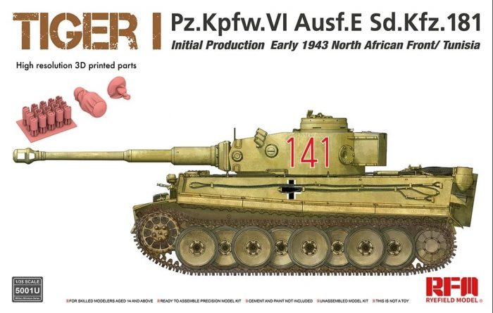 Tiger I Initial Production Box Art by Ryefield Model