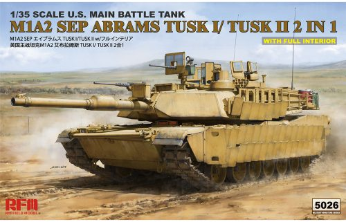 M1A2 SEP Abrams TUSK I /TUSK II w/Full Interior Box Art By Ryefield Model