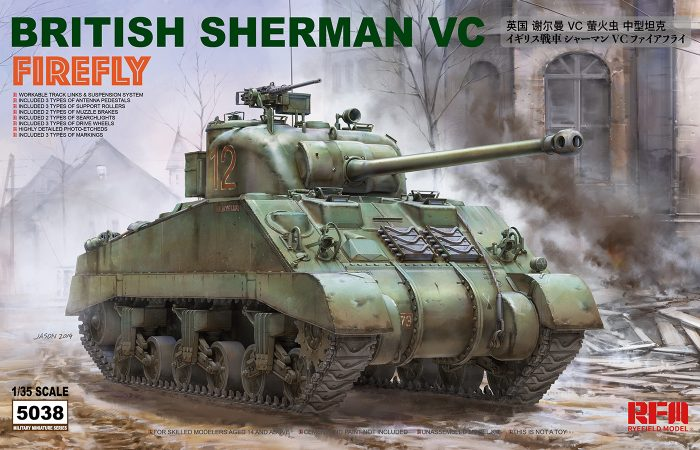 British Sherman Firefly Box Art