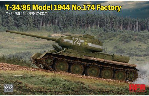 Russian T-34/85 Medium Tank Box Art by Ryefield Model