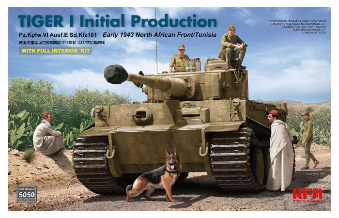 Tiger I Initial Production with Interior Box Art by Ryefield Model