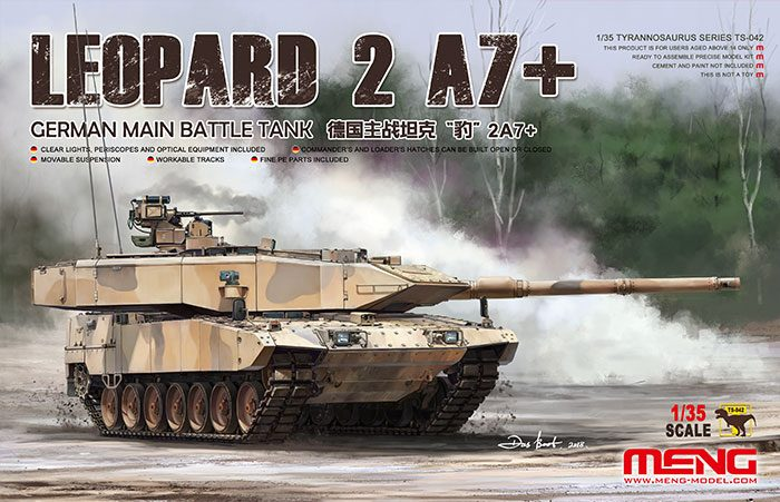 German Leopard 2A7+ Main Battle Tank Box Art by Meng